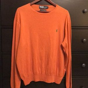 Ralph Lauren Orange Crewneck Sweater - Size Large
